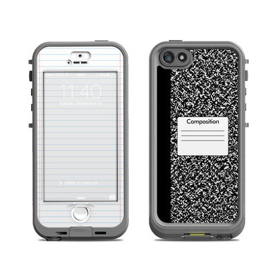 Lifeproof iPhone 5S Nuud Case Skin - Composition Notebook