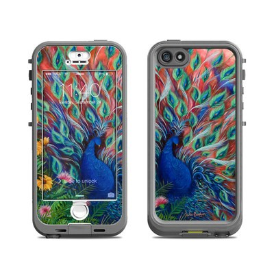 Lifeproof iPhone 5S Nuud Case Skin - Coral Peacock