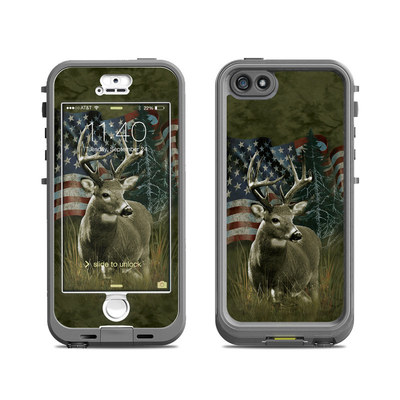 Lifeproof iPhone 5S Nuud Case Skin - Deer Flag