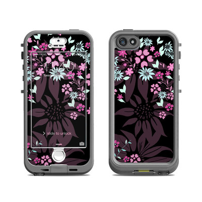 Lifeproof iPhone 5S Nuud Case Skin - Dark Flowers