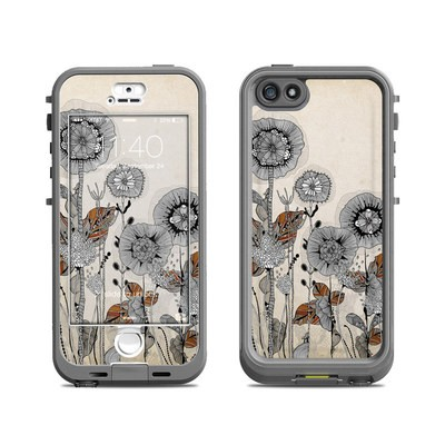 Lifeproof iPhone 5S Nuud Case Skin - Four Flowers