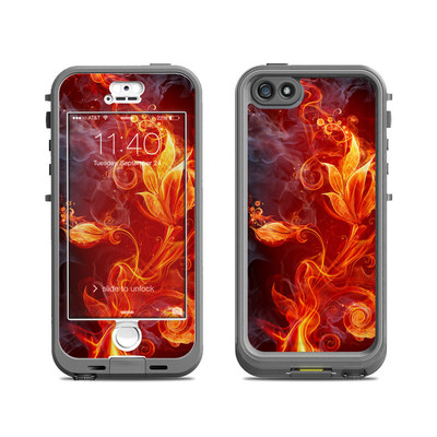 Lifeproof iPhone 5S Nuud Case Skin - Flower Of Fire