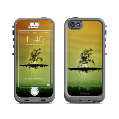 Lifeproof iPhone 5S Nuud Case Skin - Flying Tree Amber