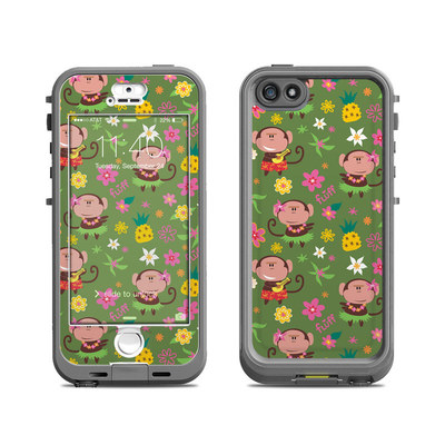 Lifeproof iPhone 5S Nuud Case Skin - Hula Monkeys