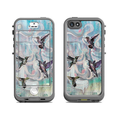 Lifeproof iPhone 5S Nuud Case Skin - Hummingbirds