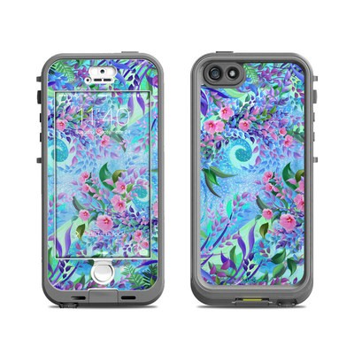 Lifeproof iPhone 5S Nuud Case Skin - Lavender Flowers