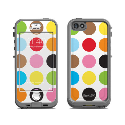 Lifeproof iPhone 5S Nuud Case Skin - Multidot