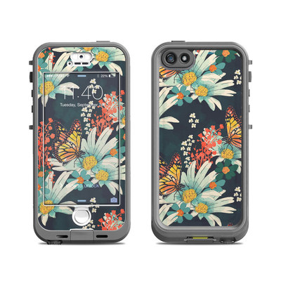 Lifeproof iPhone 5S Nuud Case Skin - Monarch Grove
