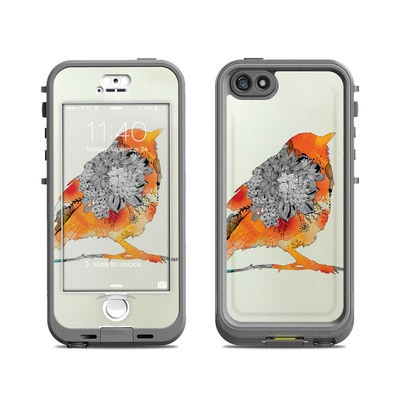 Lifeproof iPhone 5S Nuud Case Skin - Orange Bird
