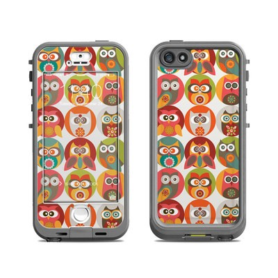 Lifeproof iPhone 5S Nuud Case Skin - Owls Family