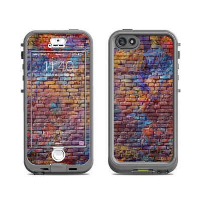 Lifeproof iPhone 5S Nuud Case Skin - Painted Brick