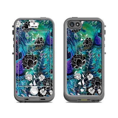 Lifeproof iPhone 5S Nuud Case Skin - Peacock Garden