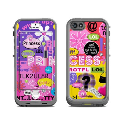 Lifeproof iPhone 5S Nuud Case Skin - Princess Text Me