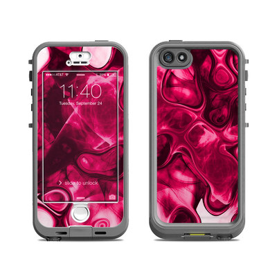 Lifeproof iPhone 5S Nuud Case Skin - Pink Splatter