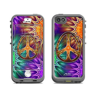 Lifeproof iPhone 5S Nuud Case Skin - Peace Triptik