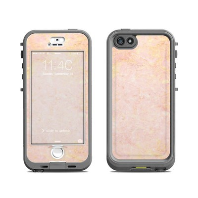 Lifeproof iPhone 5S Nuud Case Skin - Rose Gold Marble