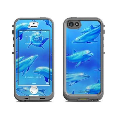 Lifeproof iPhone 5S Nuud Case Skin - Swimming Dolphins