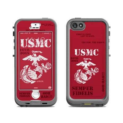 Lifeproof iPhone 5S Nuud Case Skin - Semper Fi