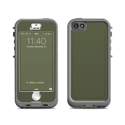 Lifeproof iPhone 5S Nuud Case Skin - Solid State Olive Drab