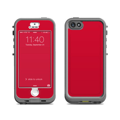 Lifeproof iPhone 5S Nuud Case Skin - Solid State Red