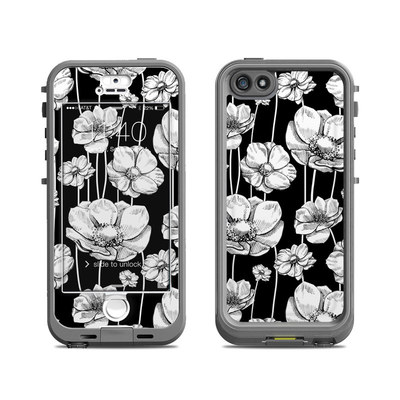 Lifeproof iPhone 5S Nuud Case Skin - Striped Blooms