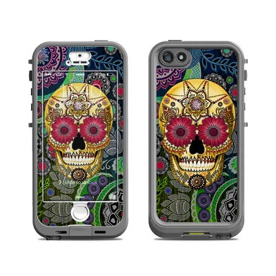 Lifeproof iPhone 5S Nuud Case Skin - Sugar Skull Paisley