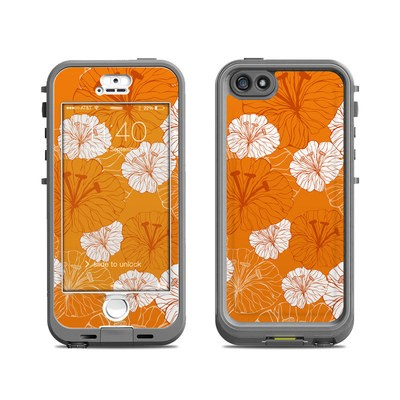 Lifeproof iPhone 5S Nuud Case Skin - Tangerine Floral