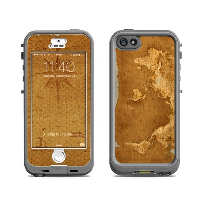 Lifeproof iPhone 5S Nuud Case Skin - Upside Down Map