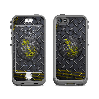 Lifeproof iPhone 5S Nuud Case Skin - USN Diamond Plate