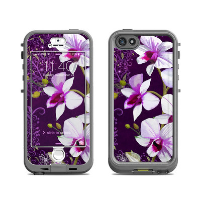 Lifeproof iPhone 5S Nuud Case Skin - Violet Worlds