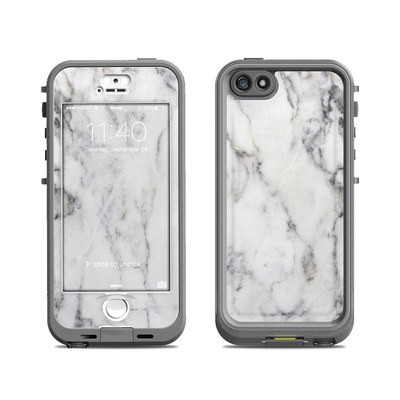Lifeproof iPhone 5S Nuud Case Skin - White Marble
