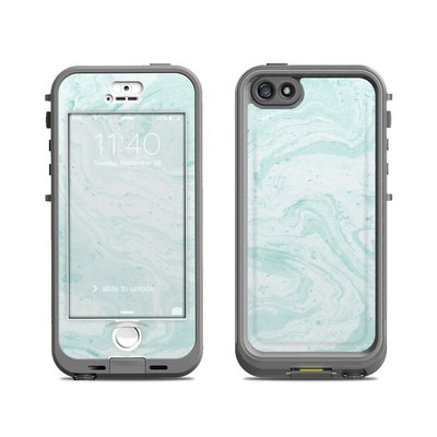 Lifeproof iPhone 5S Nuud Case Skin - Winter Green Marble