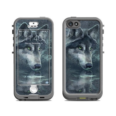 Lifeproof iPhone 5S Nuud Case Skin - Wolf Reflection