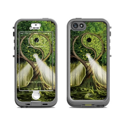 Lifeproof iPhone 5S Nuud Case Skin - Yin Yang Tree