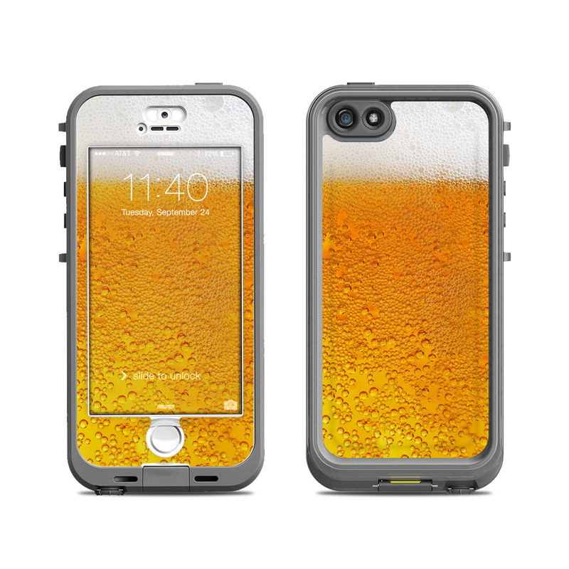 Lifeproof iphone 5s nuud case skin beer bubbles decalgirl