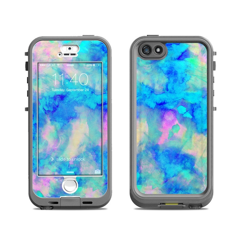 brand new 5d69b 50c83 Lifeproof iPhone 5S Nuud Case Skin - Electrify Ice Blue