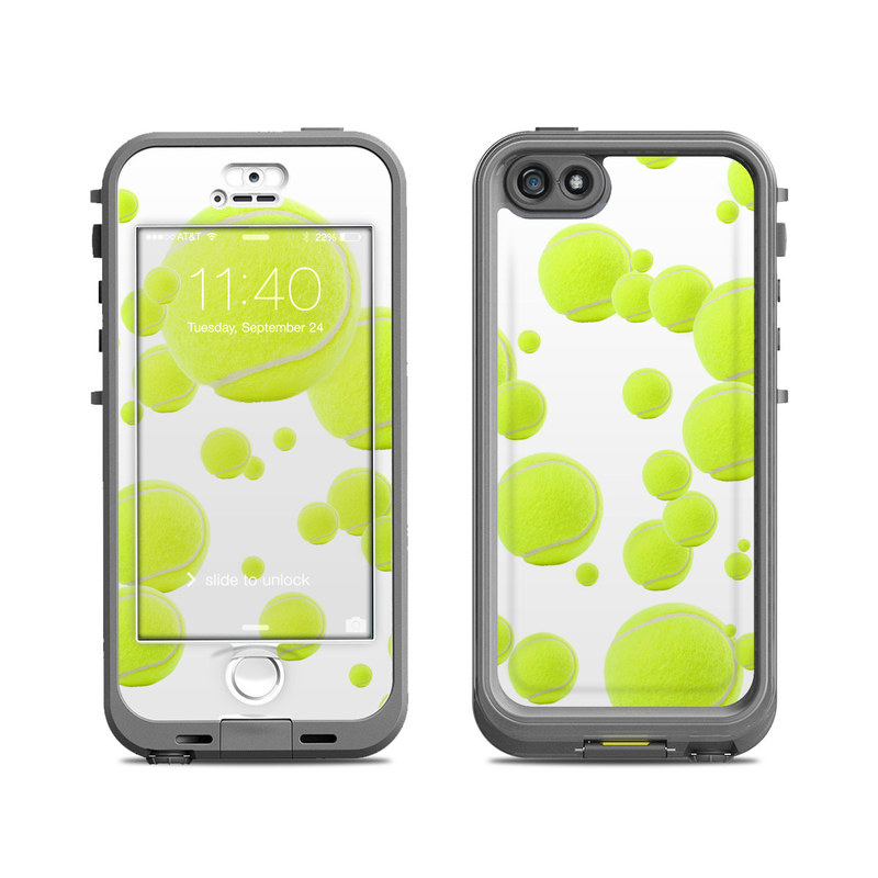 Lifeproof iphone 5s nuud case skin lots of tennis balls by sports