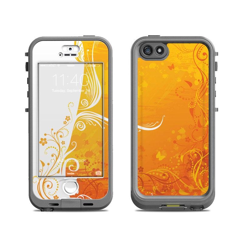 lifeproof iphone 5s nuud case skin orange crush decalgirl. Black Bedroom Furniture Sets. Home Design Ideas