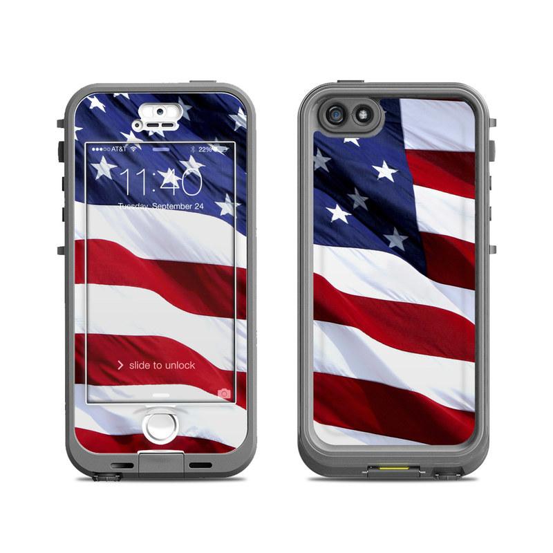 new concept b8de6 fe43d Lifeproof iPhone 5S Nuud Case Skin - Patriotic
