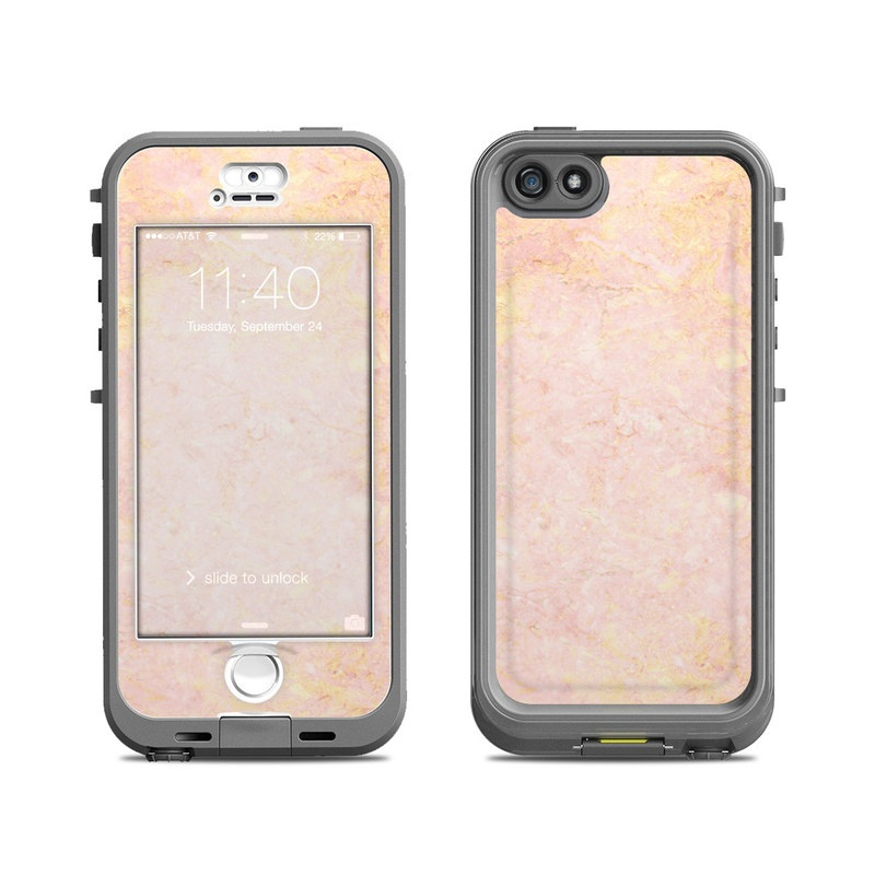 Lifeproof iPhone 5S Nuud Case Skin - Rose Gold Marble by ...
