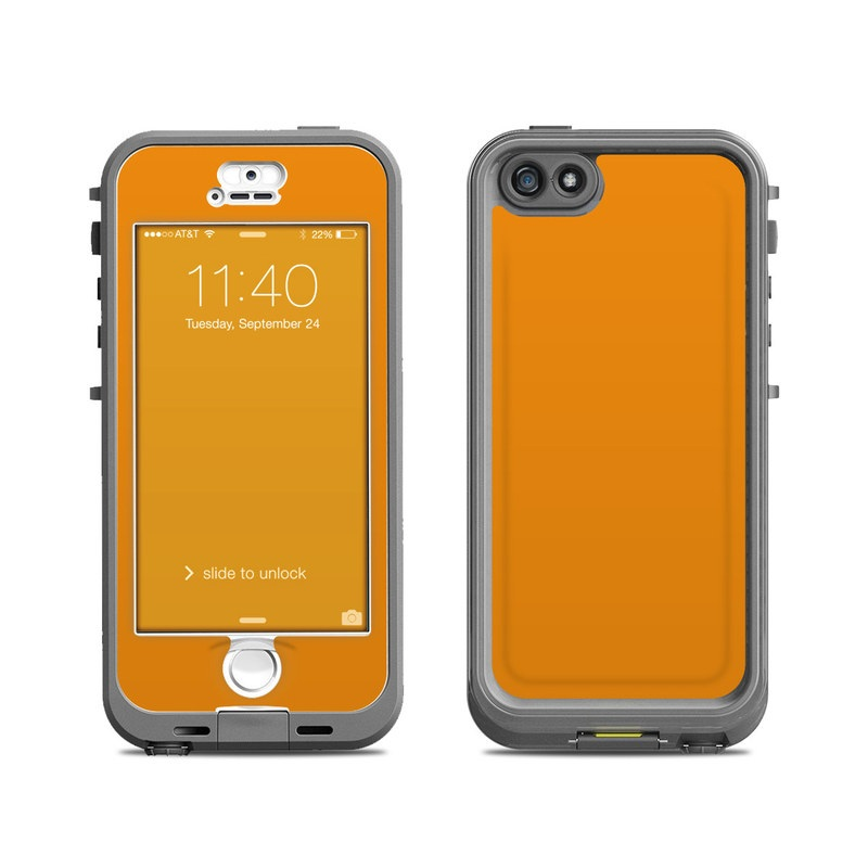 lifeproof iphone 5s nuud case skin solid state orange by solid colors decalgirl. Black Bedroom Furniture Sets. Home Design Ideas
