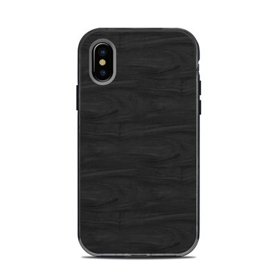 Lifeproof iPhone X Next Case Skin - Black Woodgrain