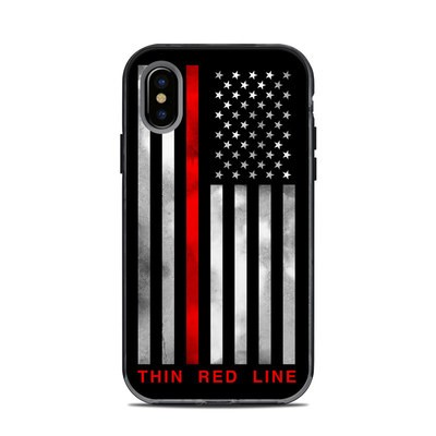 Lifeproof iPhone X Next Case Skin - Thin Red Line