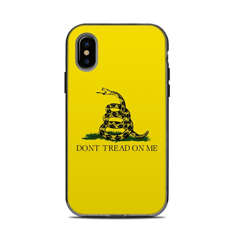 lifeproof iphone x next case skin gadsden flag by flags decalgirl