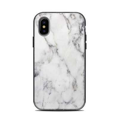 Lifeproof iPhone XS Next Case Skin - White Marble