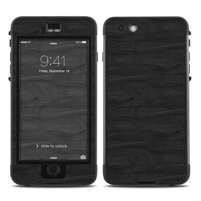 Lifeproof iPhone 6 Plus Nuud Case Skin - Black Woodgrain