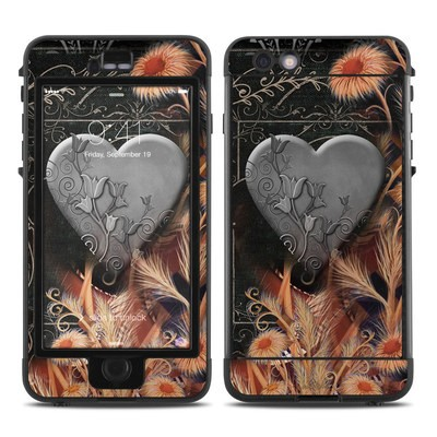 Lifeproof iPhone 6 Plus Nuud Case Skin - Black Lace Flower