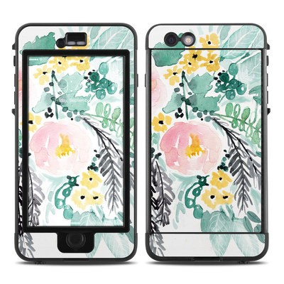 Lifeproof iPhone 6 Plus Nuud Case Skin - Blushed Flowers