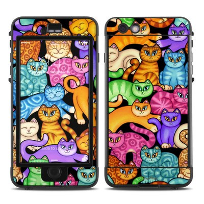 Lifeproof iPhone 6 Plus Nuud Case Skin - Colorful Kittens