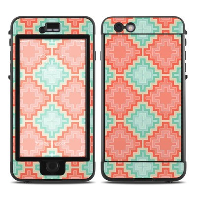 Lifeproof iPhone 6 Plus Nuud Case Skin - Coral Diamond